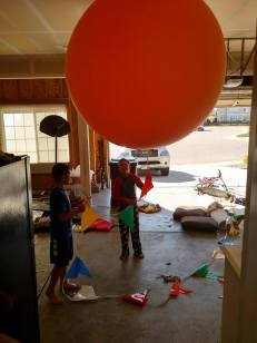 """The time he """"found"""" a balloon (at the neighborhood model home) and rode all the way home on his bike with it..."""