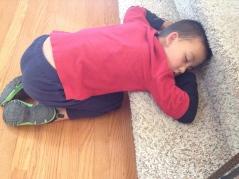 """SLEEPING ANYWHERE..."" Stairs..."